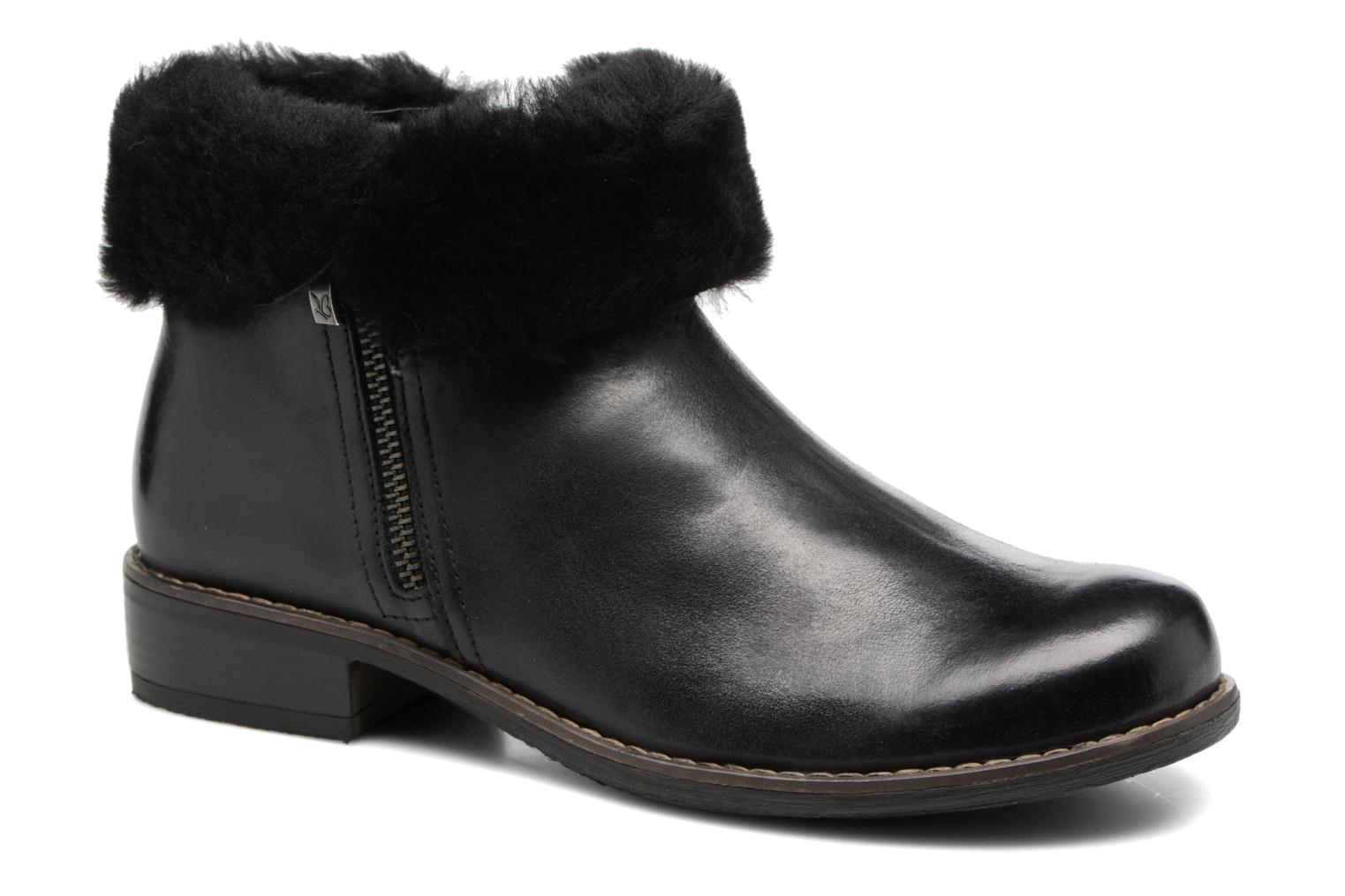 Ankle boots Caprice Santana Black detailed view/ Pair view