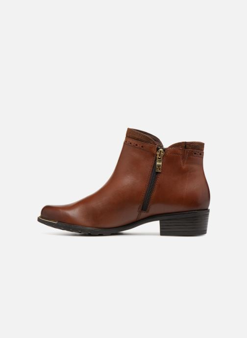 Ankle boots Caprice Kelli Brown front view