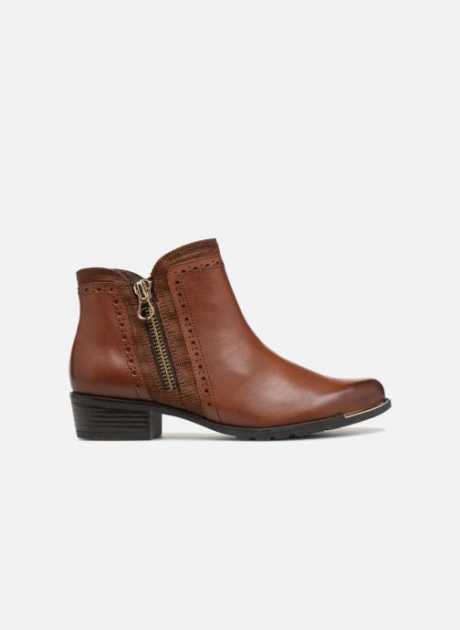 Ankle boots Caprice Kelli Brown back view