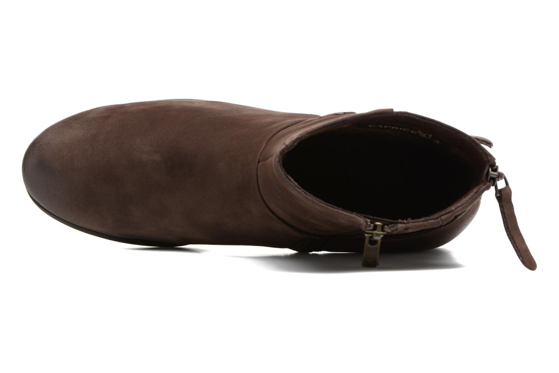 Bottines et boots Caprice Dusty Marron vue gauche