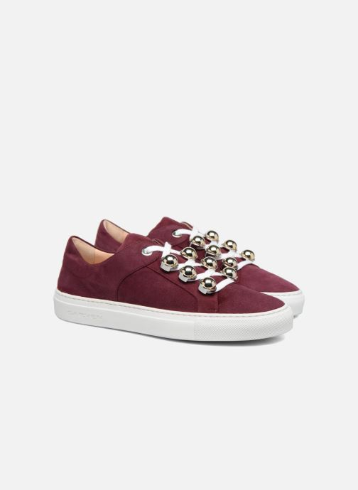Trainers Carven Germain Burgundy 3/4 view
