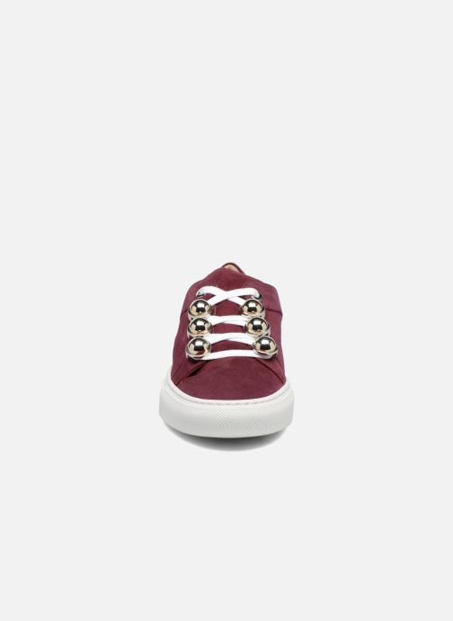Baskets Carven Germain Bordeaux vue portées chaussures