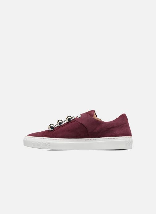 Trainers Carven Germain Burgundy front view