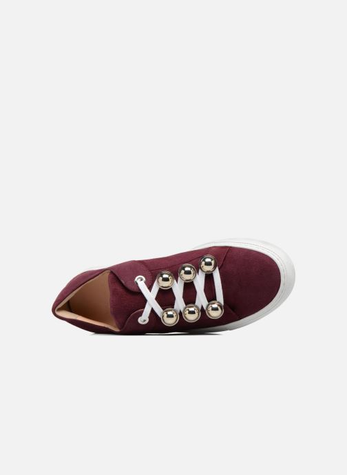 Trainers Carven Germain Burgundy view from the left