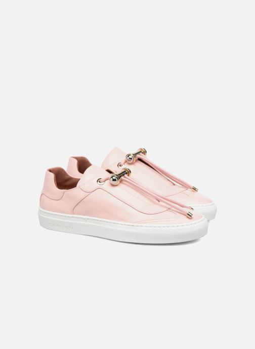 Baskets Carven Mabillon Rose vue 3/4