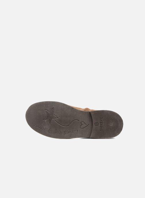 Stiefel Shoesme Sandrine braun ansicht von oben