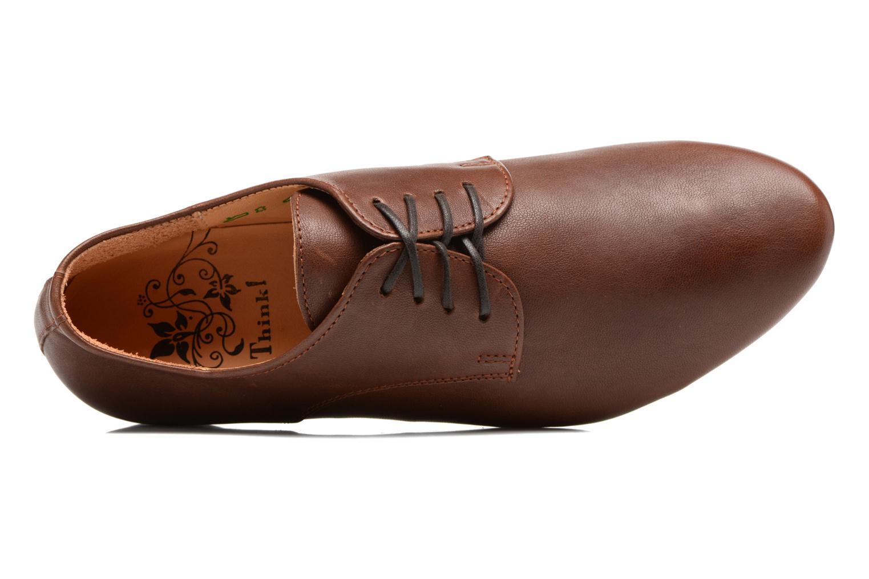 Zapatos con cordones Think! Guad 81290 Marrón vista lateral izquierda