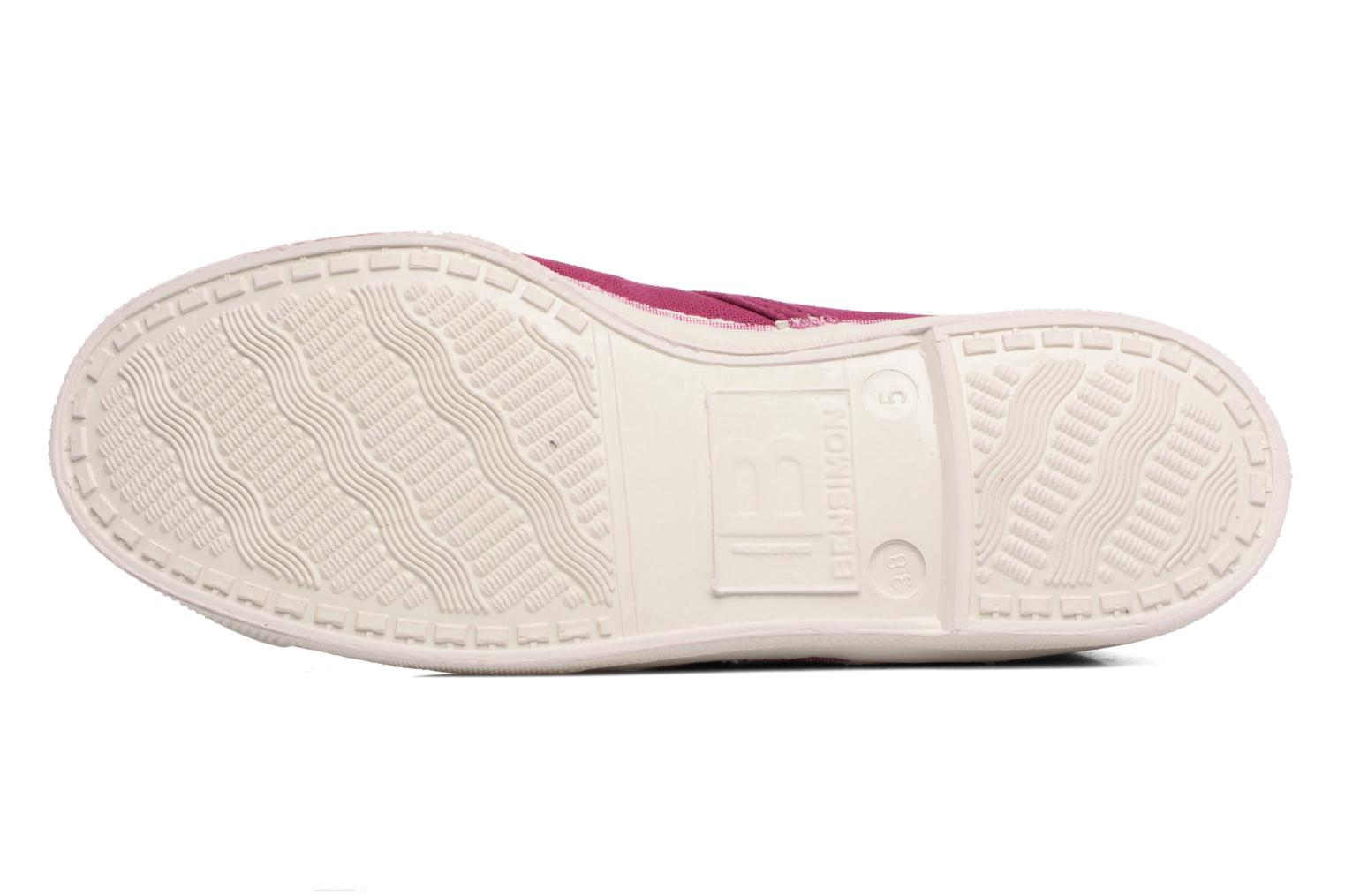 Trainers Bensimon Tennis New Nils Purple view from above