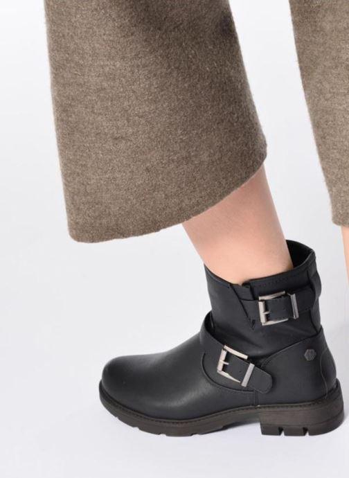 Stiefeletten & Boots Refresh Tiglou schwarz ansicht von unten / tasche getragen