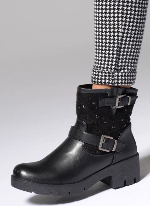 Bottines et boots Refresh Zippe Noir vue bas / vue portée sac