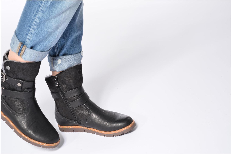 Bottines et boots Refresh Gidge Noir vue bas / vue portée sac