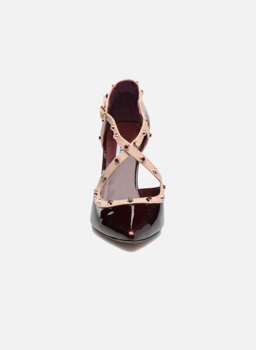 High heels Dune London Cayleigh Burgundy model view