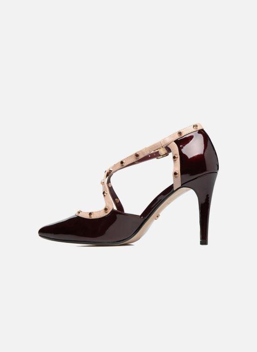 High heels Dune London Cayleigh Burgundy front view