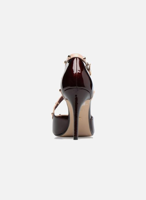 High heels Dune London Cayleigh Burgundy view from the right