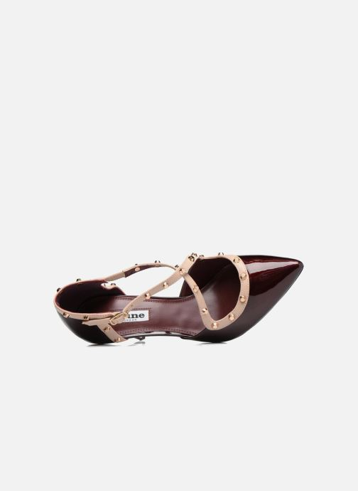 High heels Dune London Cayleigh Burgundy view from the left