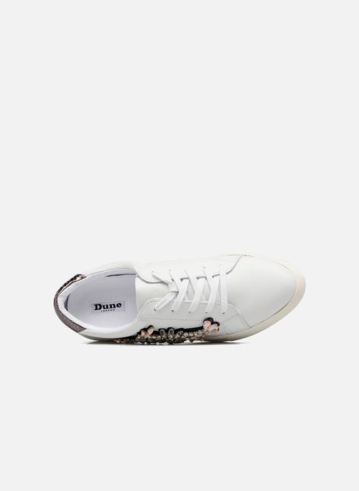 Sneakers Dune London Emerelda Wit links
