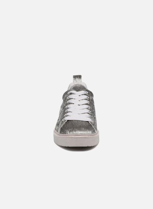 Sneaker Dune London Etch silber schuhe getragen