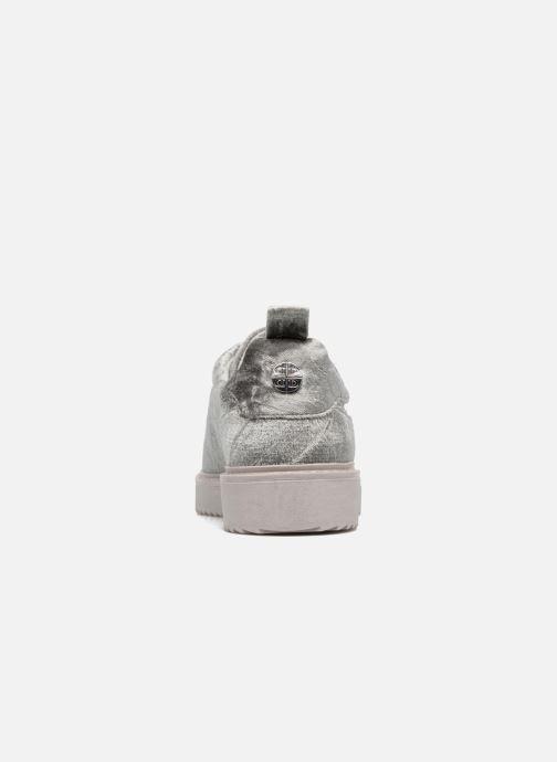 Sneaker Dune London Etch silber ansicht von rechts