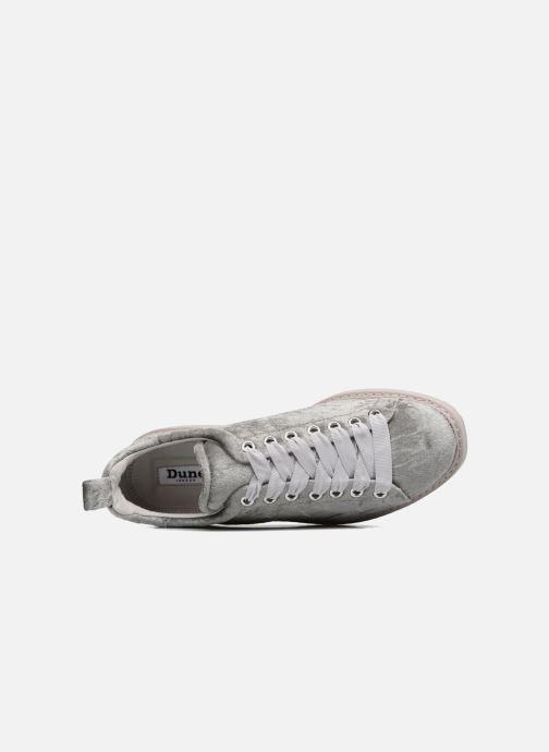 Sneaker Dune London Etch silber ansicht von links