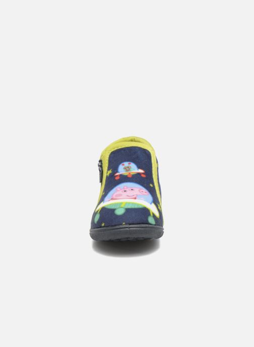 Hausschuhe Peppa Pig PP Robin blau schuhe getragen