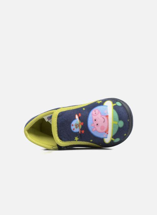 Pantoffels Peppa Pig PP Robin Blauw links