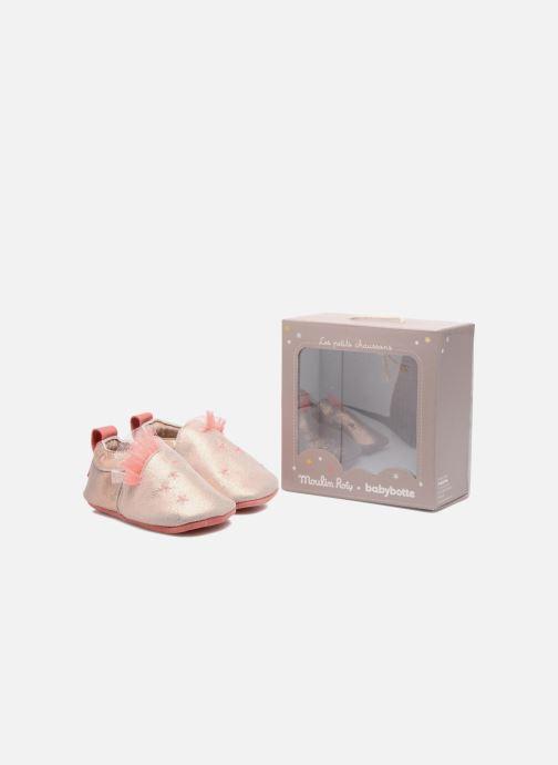 Pantoffels Babybotte Etoiles - Moulin Roty Goud en brons 3/4'