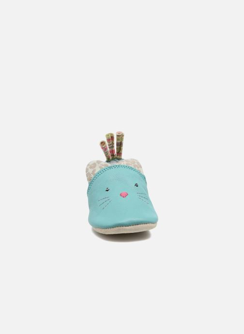 Slippers Babybotte Chat - Moulin Roty Blue model view