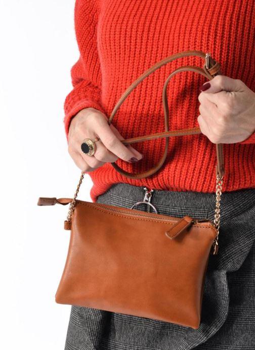 Sacs à main Georgia Rose Daphné Bordeaux vue bas / vue portée sac