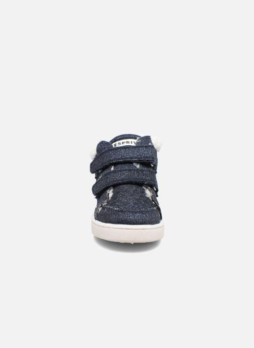 Baskets Esprit Jojo Velcro Argent vue portées chaussures