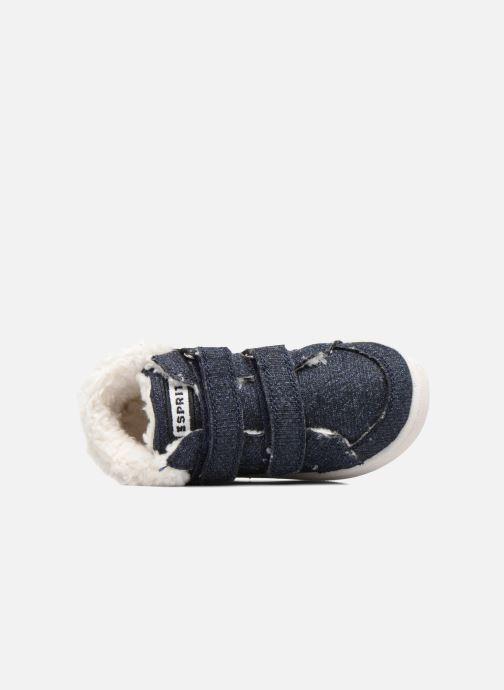 Sneaker Esprit Jojo Velcro silber ansicht von links