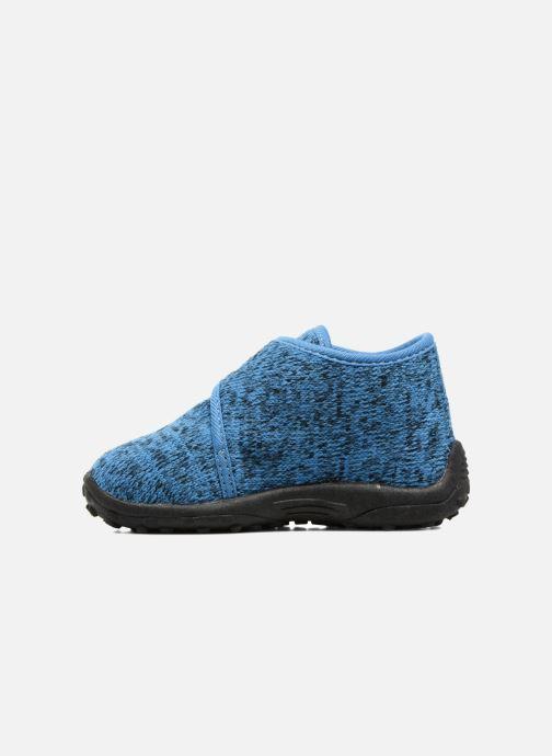 Pantuflas Esprit Robin Velcro Azul vista de frente