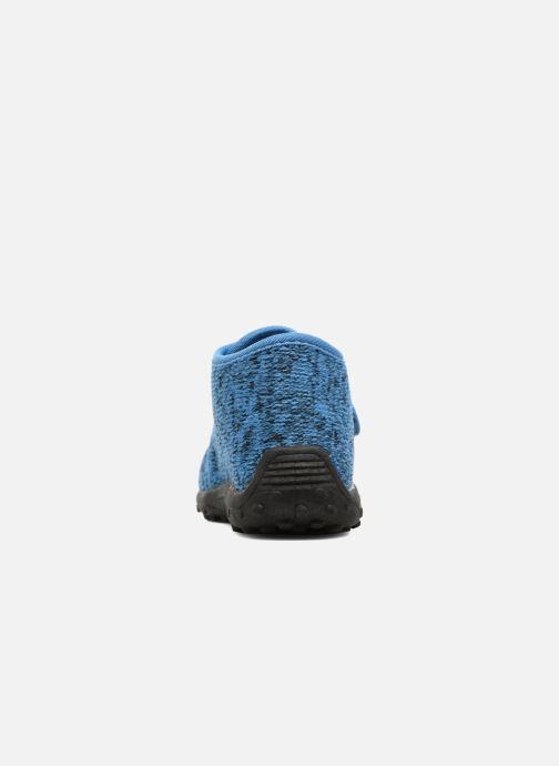 Pantuflas Esprit Robin Velcro Azul vista lateral derecha