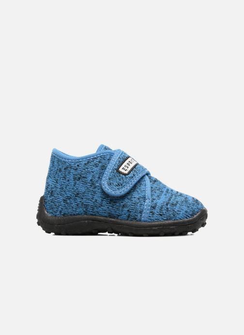 Pantuflas Esprit Robin Velcro Azul vistra trasera