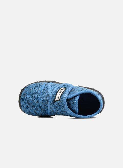 Pantuflas Esprit Robin Velcro Azul vista lateral izquierda