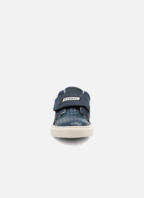 Sneaker Esprit Filou Velcro blau schuhe getragen