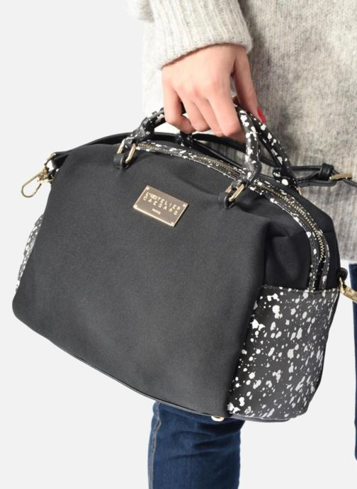 Handbags L'Aetelier Caesars LOLA Neopren Bowling Bag L Black view from above