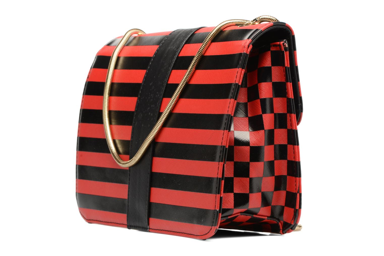 CATY L rouge L'Aetelier Shoulder Carreaux Caesars noir bag OIwwq5Y