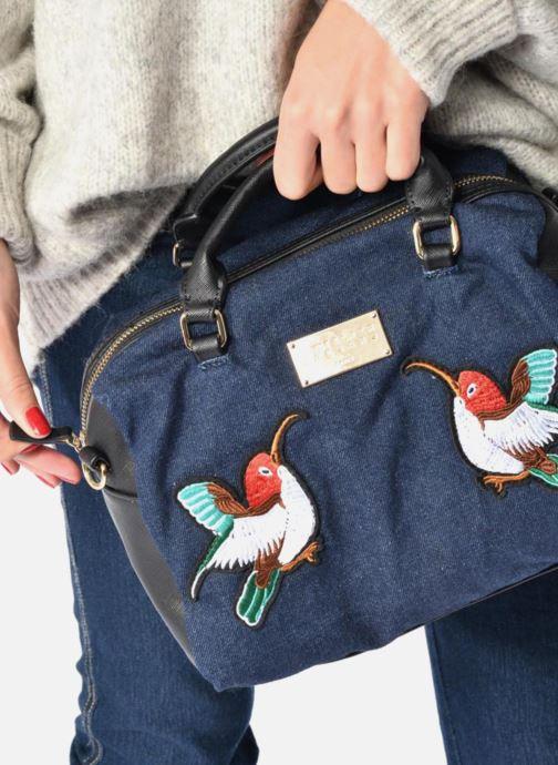 Handbags L'Aetelier Caesars LOLA Bowling Bag L Blue view from underneath / model view