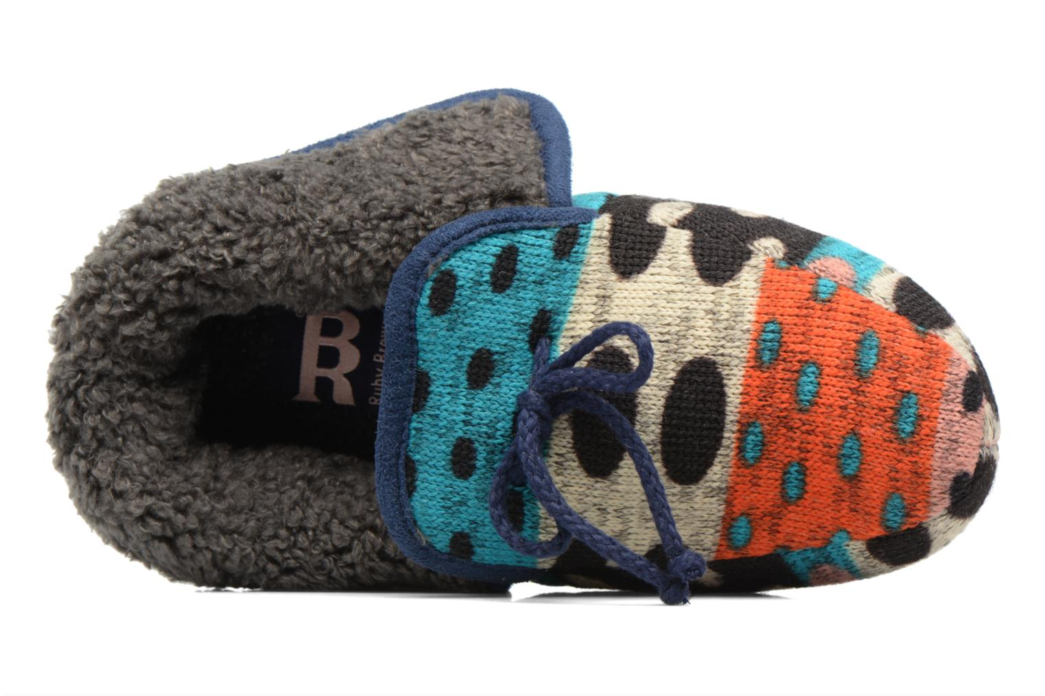 Chaussons Ruby Brown Whoopy Multicolore vue gauche