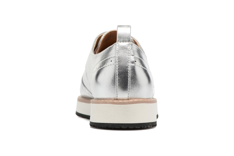 Zapatos con cordones ONLY Tyra pu lace up Plateado vista lateral derecha
