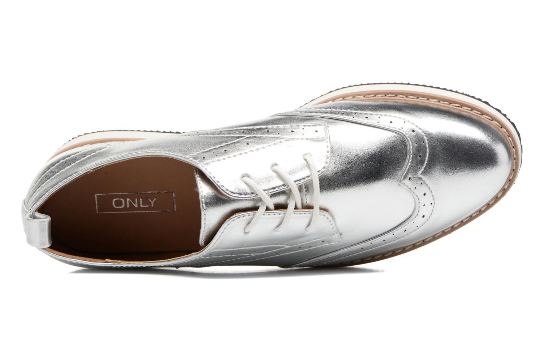 Zapatos con cordones ONLY Tyra pu lace up Plateado vista lateral izquierda