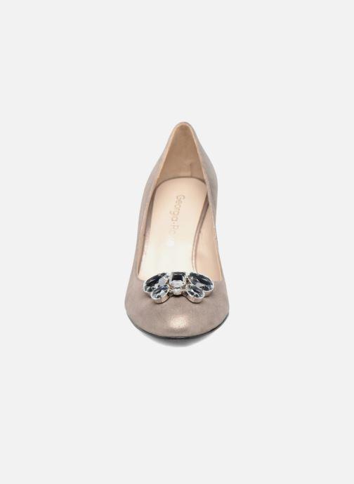 Zapatos de tacón Georgia Rose Epomy Oro y bronce vista del modelo