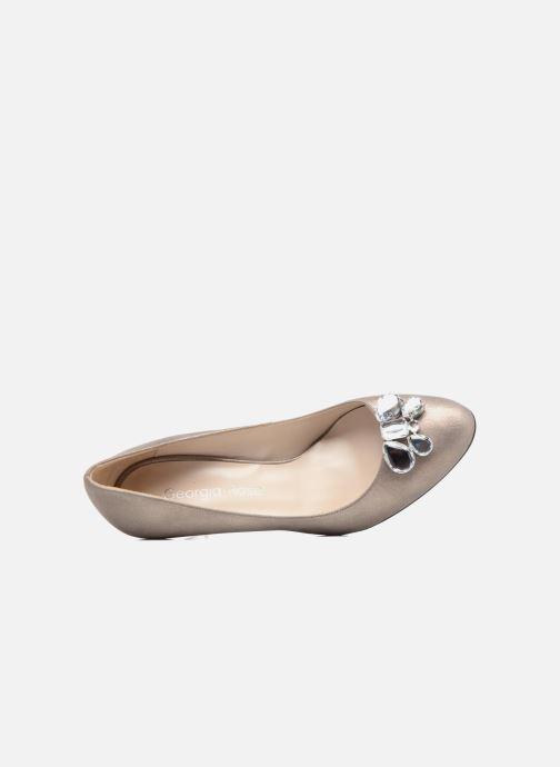 Zapatos de tacón Georgia Rose Epomy Oro y bronce vista lateral izquierda
