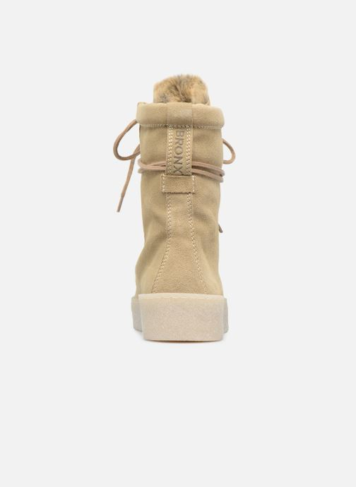 Ankle boots Bronx Bsillax Beige view from the right