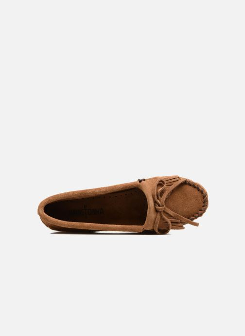 Mocassins Minnetonka Kilty Marron vue gauche