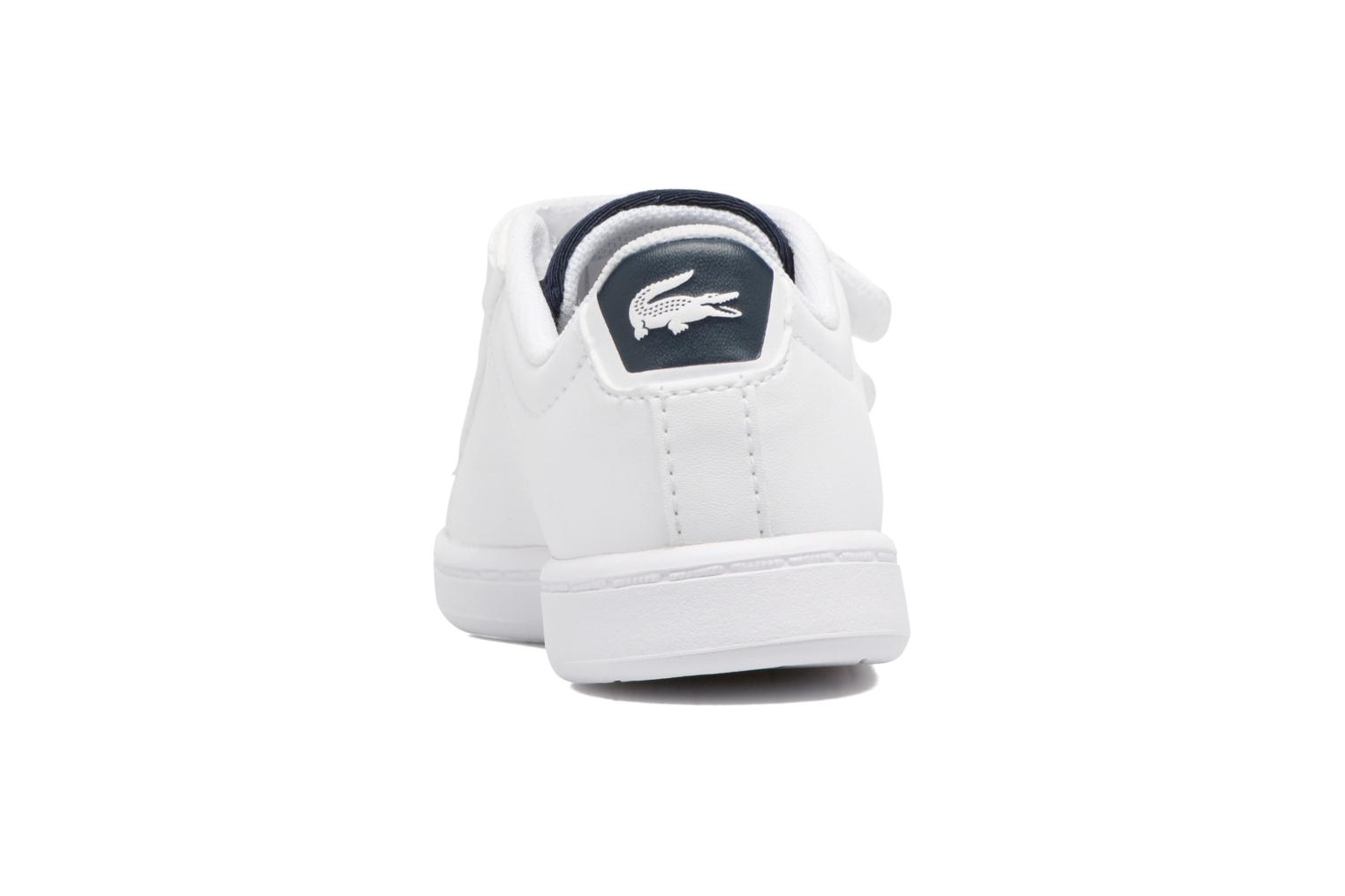 Baskets Lacoste Carnaby Evo 317 1 Spi Blanc vue droite