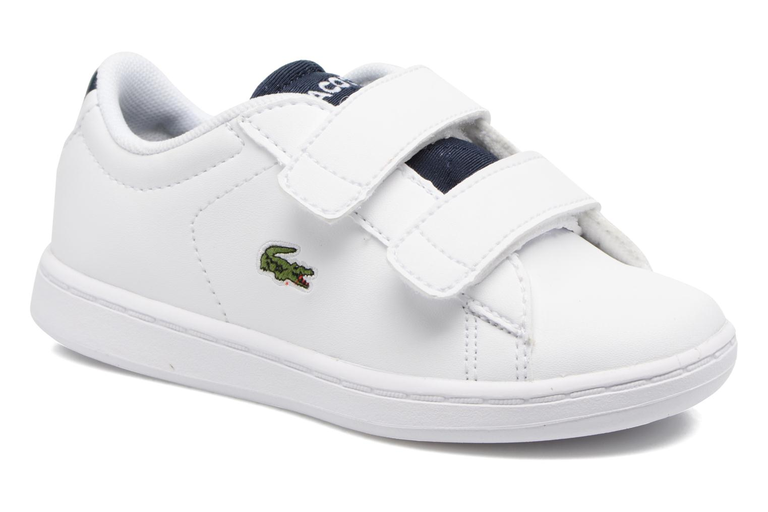Baskets Lacoste Carnaby Evo 317 1 Spi Blanc vue détail/paire
