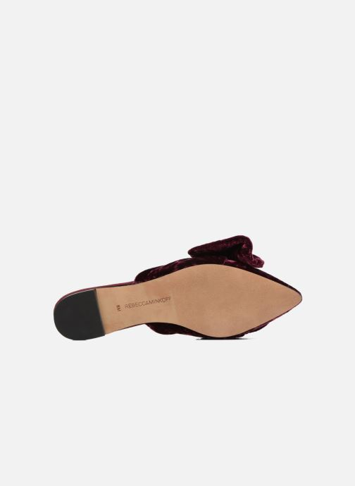 Mules & clogs Rebecca Minkoff Alexis Burgundy view from above
