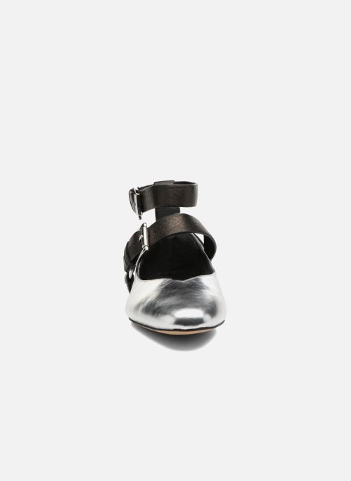 Ballerines Rebecca Minkoff Vivica Argent vue portées chaussures
