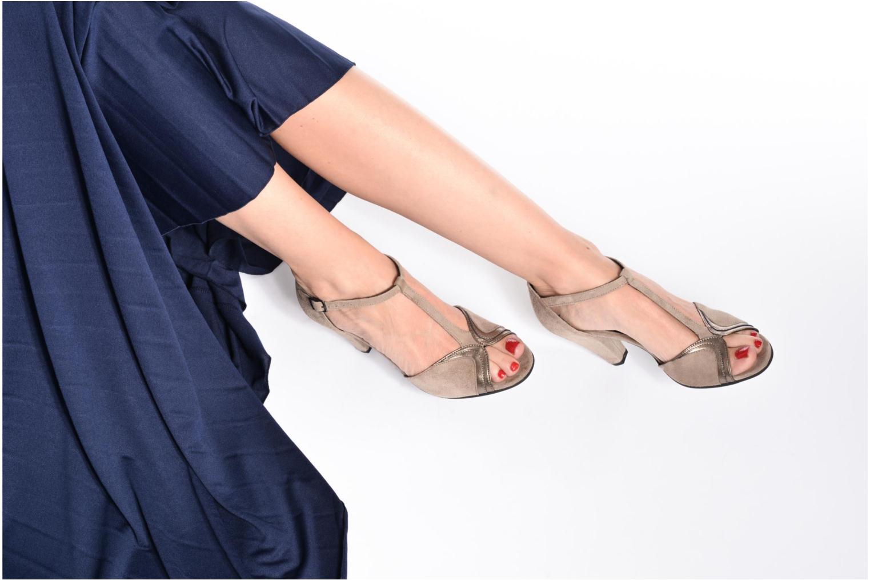 High heels Georgia Rose Hepomi Black view from underneath / model view